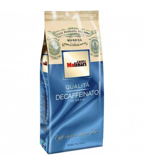 Кафе на зърна Molinari Decaffeinato без кофеин 500 гр.