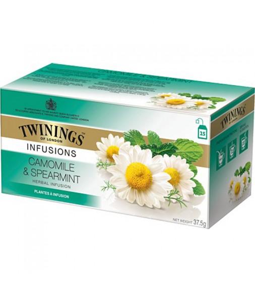 Билков чай TWININGS Camomile & Spearmint 25 пакетчета