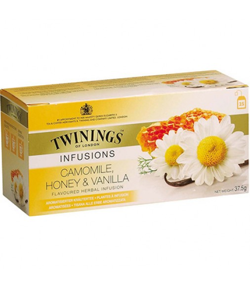 Билков чай TWININGS Camomile, Honey & Vanilla 20 пакетчета