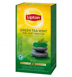 Зелен чай Lipton Green Tea Mint 25 пакетчета