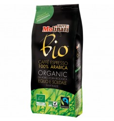 Кафе на зърна Molinari Bio зърна 500 гр.