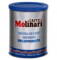 Мляно кафе Molinari Decaffeinato Five stars без кофеин 250 гр.