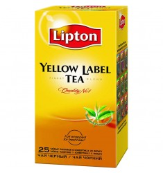 Черен чай Lipton Yellow Label 25 пакетчета