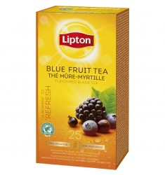 Черен чай Lipton Blue Fruit Tea 25 пакетчета