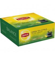 Зелен чай Lipton Green Tea Citrus 100 пакетчета