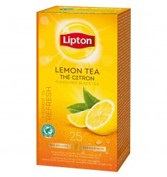 Черен чай Lipton Lemon Tea 25 пакетчета