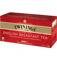 Черен чай TWININGS English breakfast 25 пакетчета