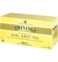 Черен чай TWININGS Earl Grey 25 пакетчета