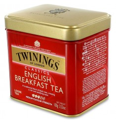 Черен чай TWININGS English breakfast (Метална кутия) 100 гр.