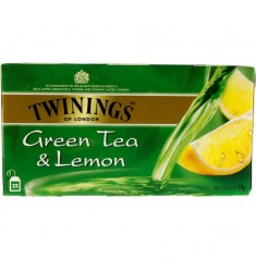 Зелен чай TWININGS Green & Lemon 25 пакечета