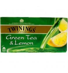 Зелен чай TWININGS Green & Lemon 25 пакечета