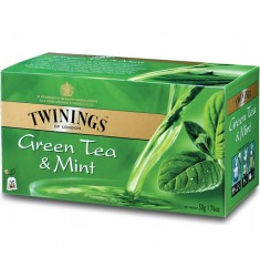 Зелен чай TWININGS Green & Mint  25 пакетчета