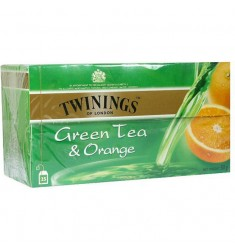 Зелен чай TWININGS Green & Orange 25 пакетчета