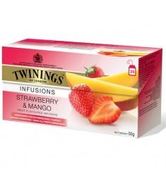 Плодов чай TWININGS Strawberry & Mango 20 пакетчета